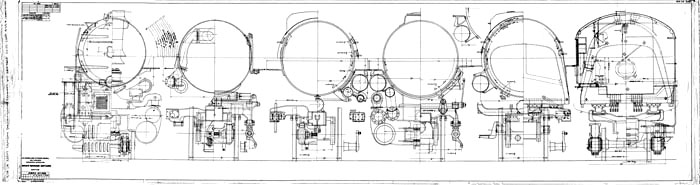 Live steam engine drawings